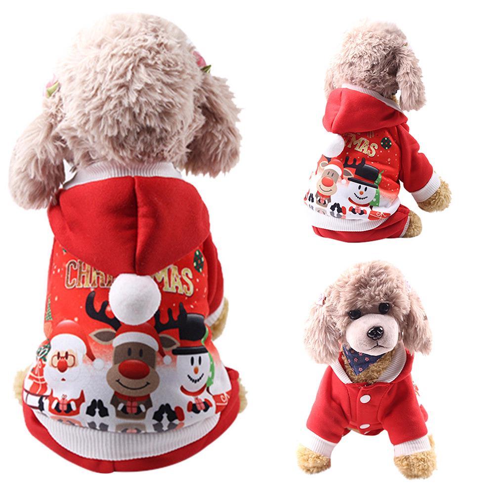 2056f60c63 Pet Dog Puppy Christmas Clothes Snowman Print T Shirt Xmas Apparel ...
