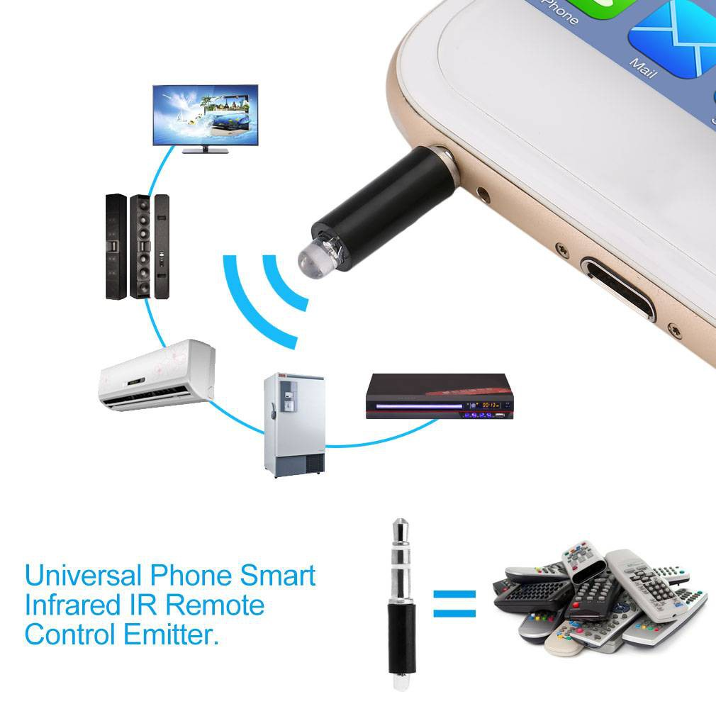 Universal Phone Smart Infrared IR Remote Control Emitter TV STB DVD Control | Shopee Singapore