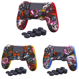 Water Transfer Printing Camouflage Silicone Cover Skin Case for Sony  PS4/slim/Pr
