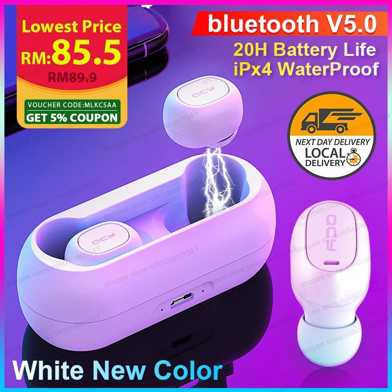 QCY Wireless Bluetooth Earphone Waterproof Wireless Earbud Stereo Headset  5 0
