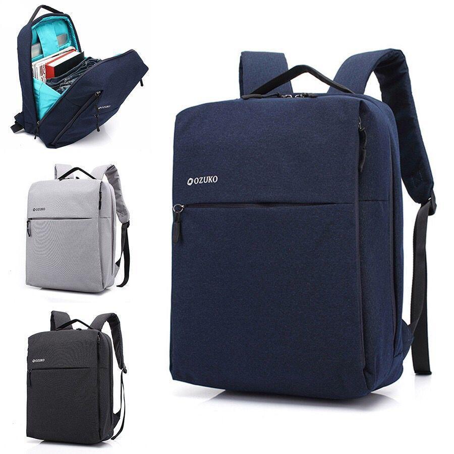 Ozuko Anti Theft Mens Multi Functional Bag Waterproof Oxford Laptop Travel Waist Tas Maling Backpack Shopee Singapore