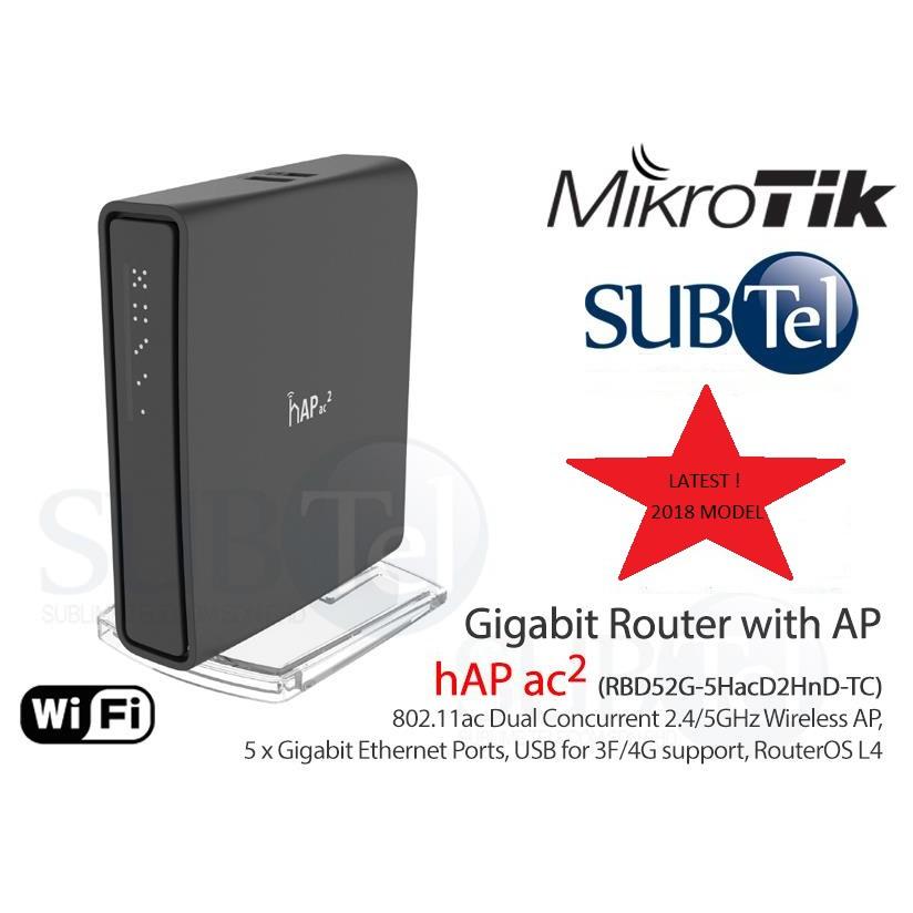 Mikrotik Gigabit WiFi Router 5 Port hAP ac2 RBD52G-5HacD2HnD-TC