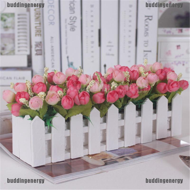 Ho Ent A Level Wooden Fence Vase With Foam For Artificial Flower Vase Home Decoration Shopee Singapore