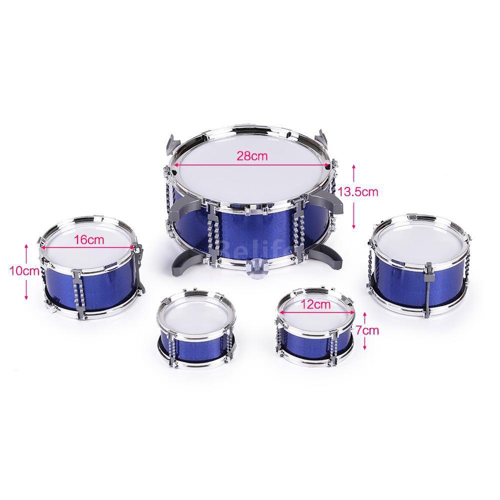 8c89944f9 Compact Size Drum Set Children Kids Musical Instrument Toy 5 Drums   Shopee  Singapore