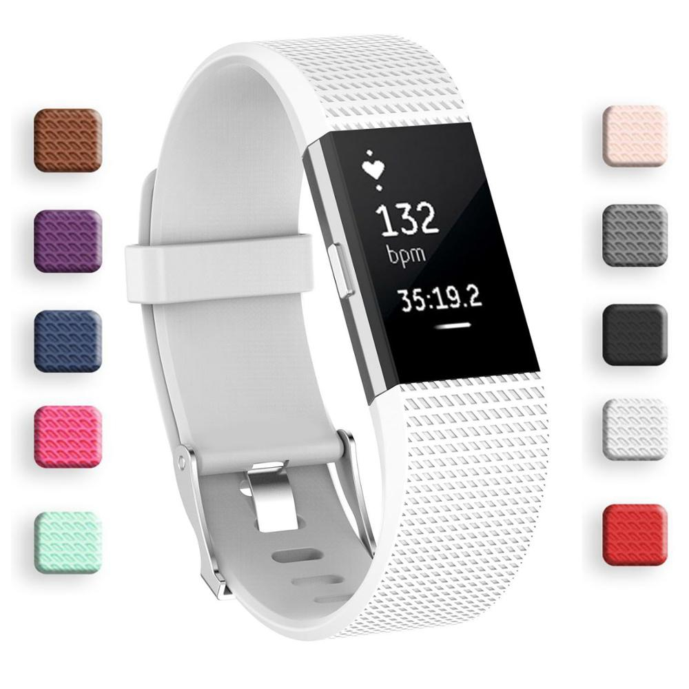 Silicone Smart Watch Strap for Fitbit Charge 2