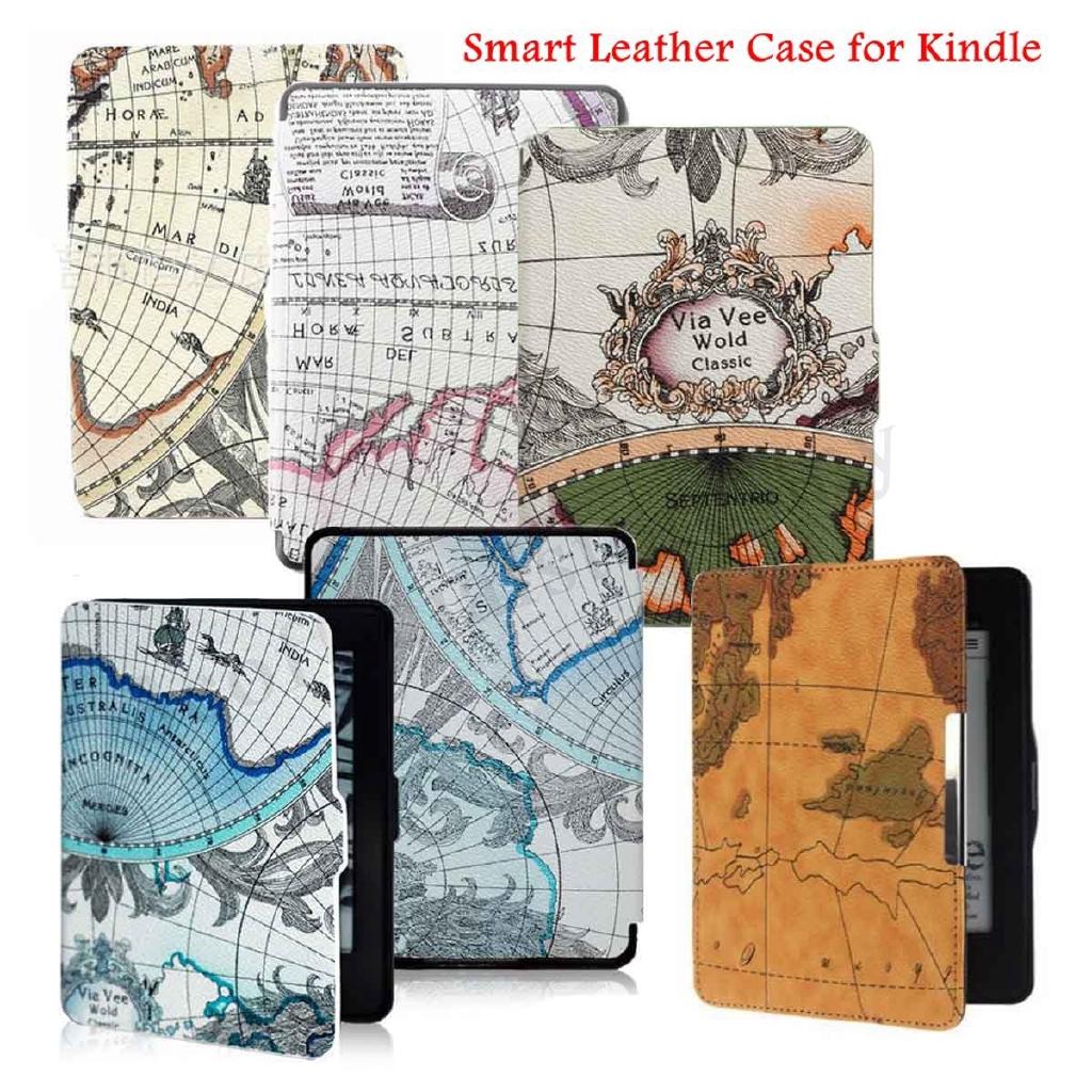 For Amazon Kindle Paperwhite 1//2//3 Premium thin Leather Skin Smart Case Cover