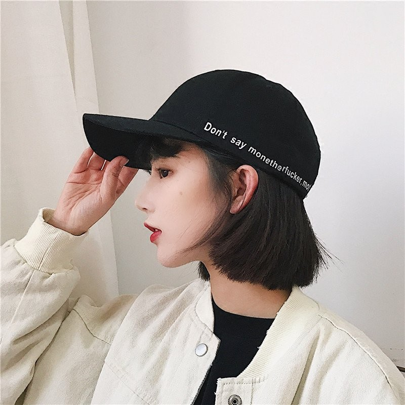 Hong Kong style street hoop embroidery casual baseball hat summer wild men  and w  e6ef8a6a7792