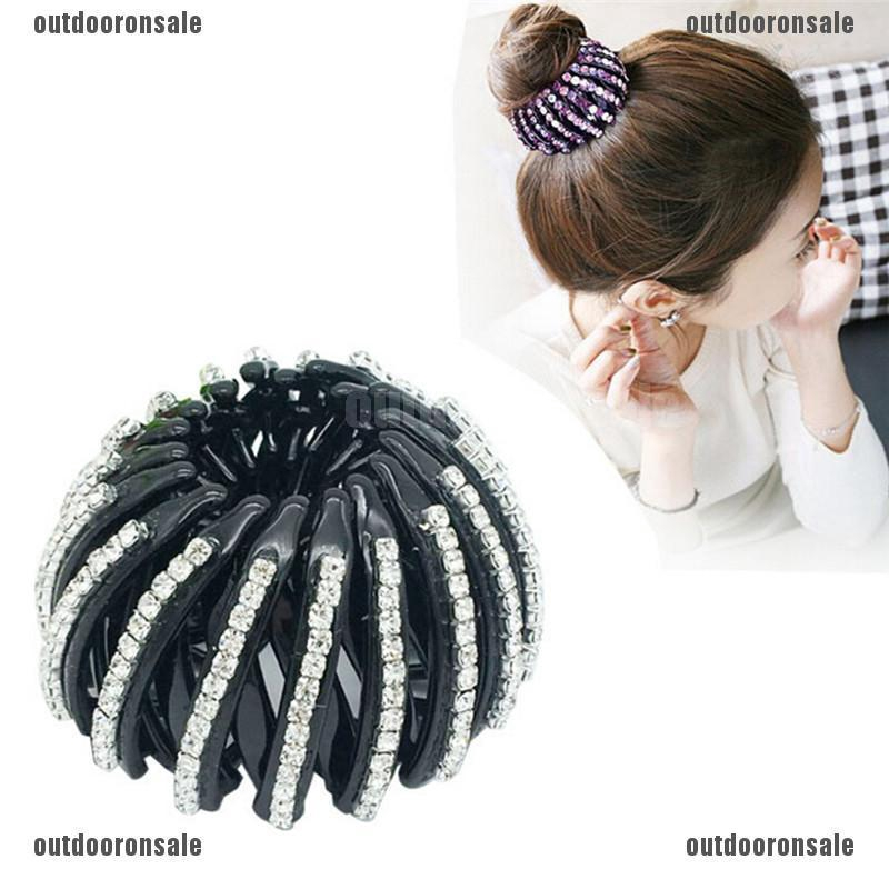 Bling Hair Clip Ponytail Holder Beautiful Crystal Hairband Accessories for Hair