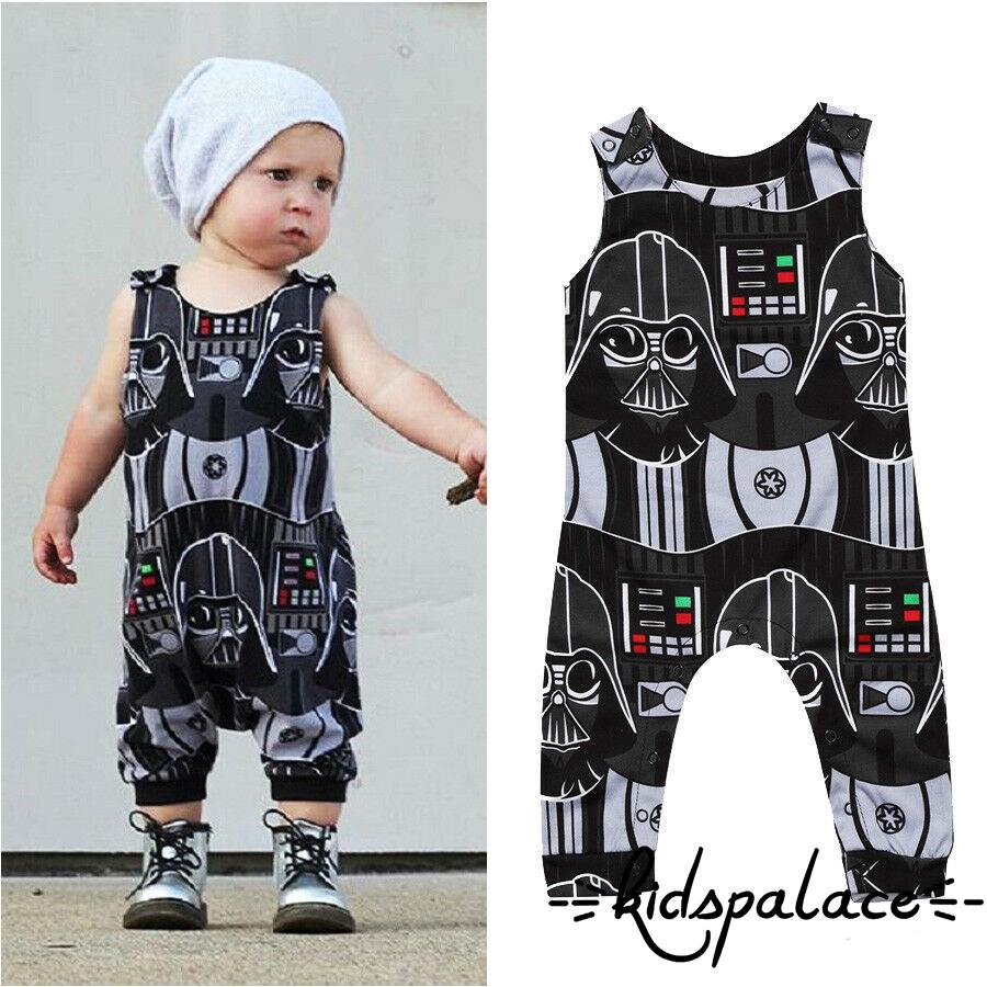 Kids Baby Girl Boy Cotton Sleeveless Romper Bodysuit Jumpsuit Clothes Outfits