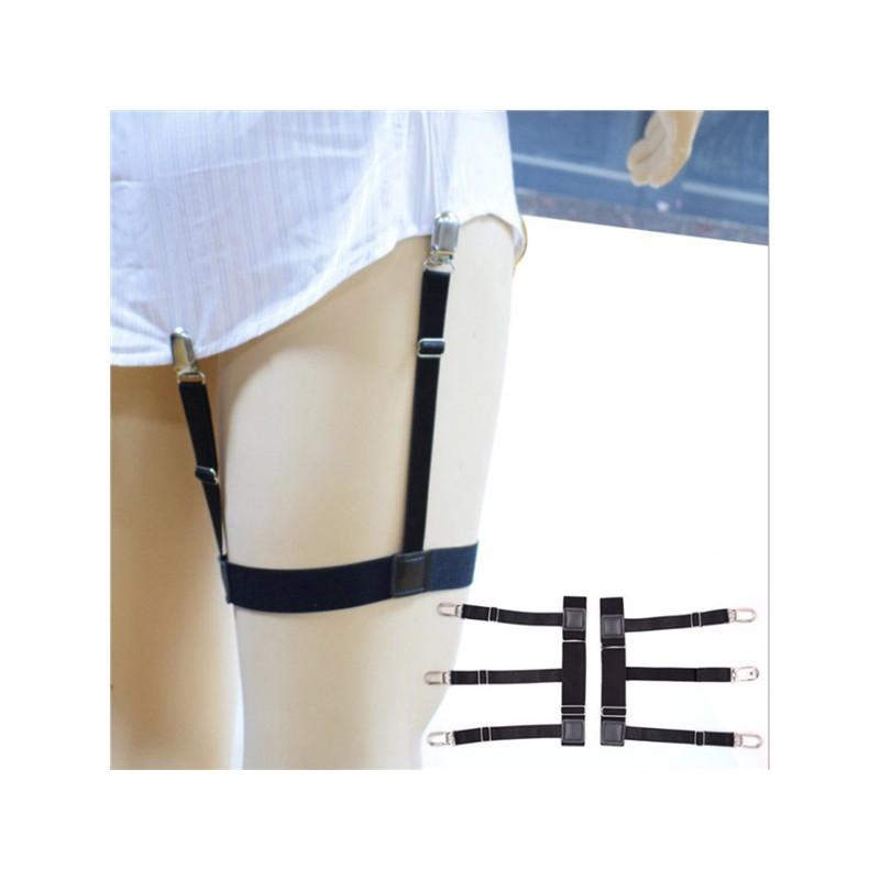Men's Suspenders Supply 1 Pair Elastic Solid Nisex Shirt Fixed Braces Band Suspenders Adjustable Garter Socks Non-slip Garter Clip Leg Ring Clip Belt Apparel Accessories