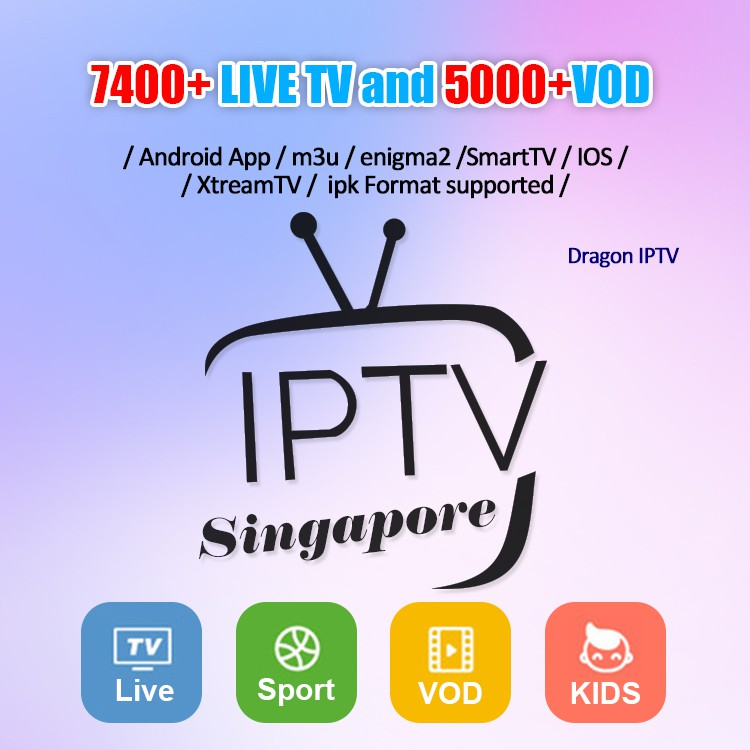 1 Year Dragon TV & 1 Year IPTV Smarters Live TV + VOD