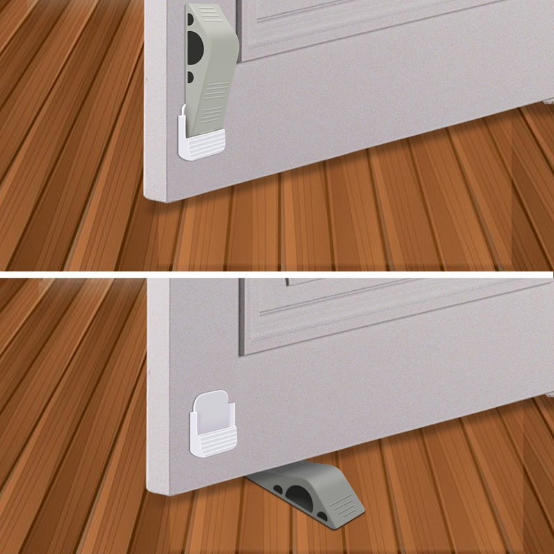 2 Pcs Door Stopper Wedge Heavy Duty Premium Rubber Decorative Stoppers Mnkg Shopee Singapore