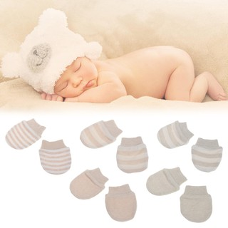 Baby Gloves & Mittens Baby Essentials 5pcs Newborn Boy Girl Soft Cotton Infant Handguard Anti Scratch Mittens Gloves