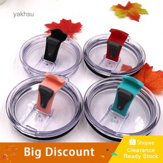 YAK_Spill Proof Tumbler Lid Smooth Opening Replacement Car Cup Cover for  Yeti 30OZ