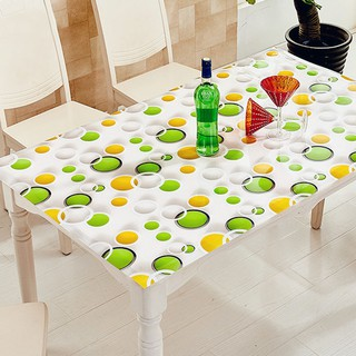 1 5mm Pvc Tablecloth Waterproof Plastic Kitchen Dining Table Cover