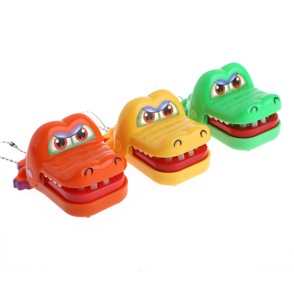 New Animal Toy Crocodile Dentist Bite With Keychain Mouth Back To