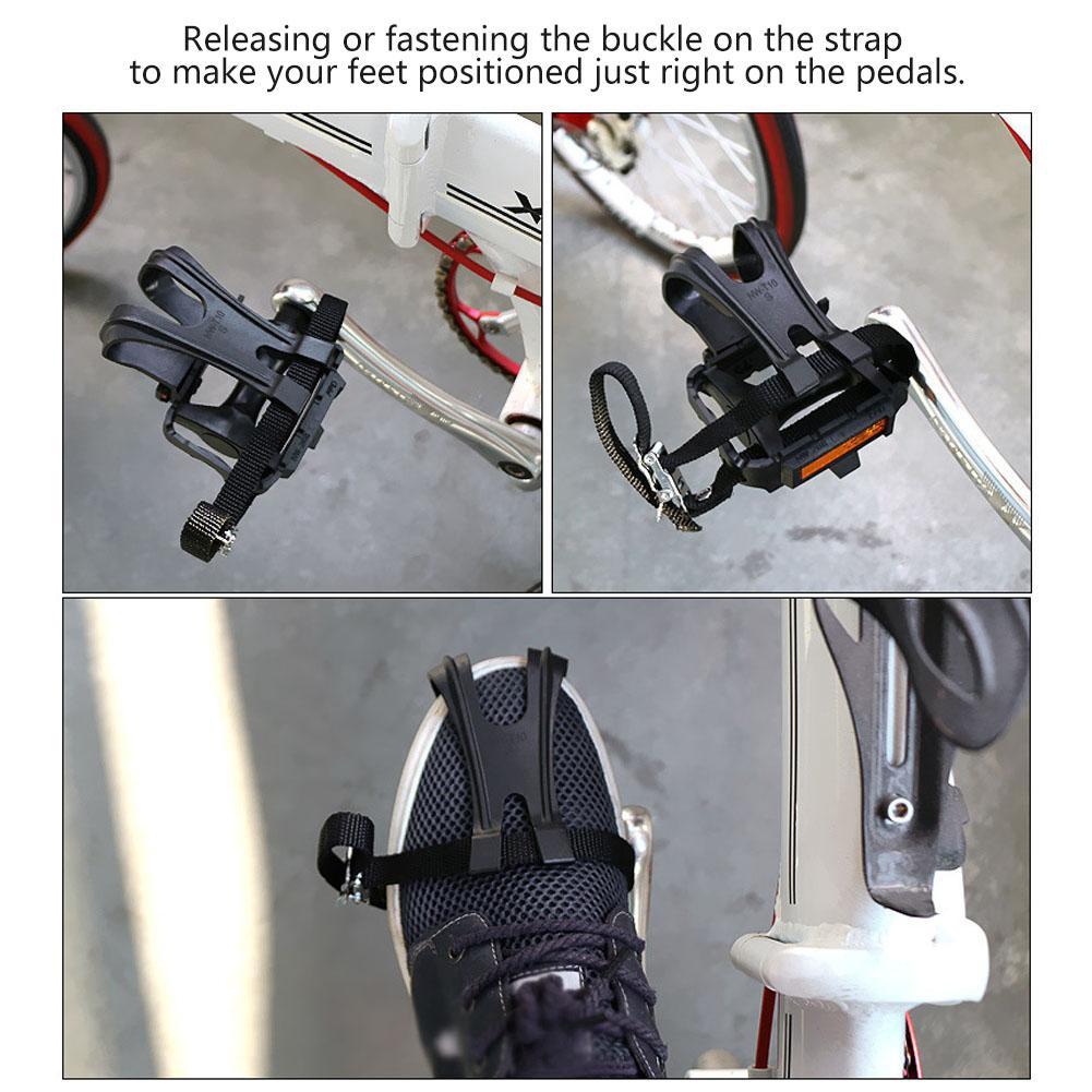 Toe Straps Clip Bike Cycling Pedal Nylon Straps Bicycle Pedals Accessories