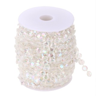 99FT Garland Diamond Acrylic Crystal Bead Curtain Wedding DIY Party Decor