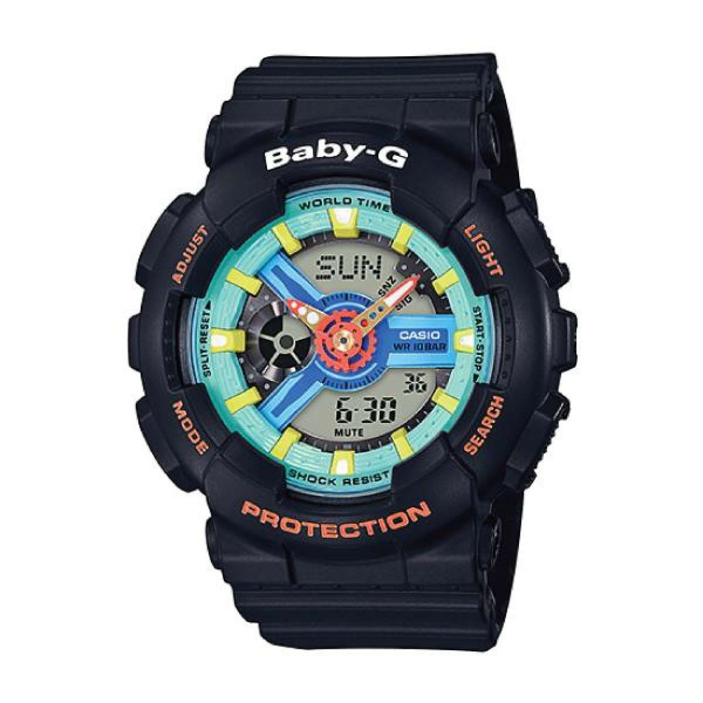 a348b41c3e2a Casio Baby-G Aqua Planet Coral Reef Color Red Resin Band Watch BA110CR-4A