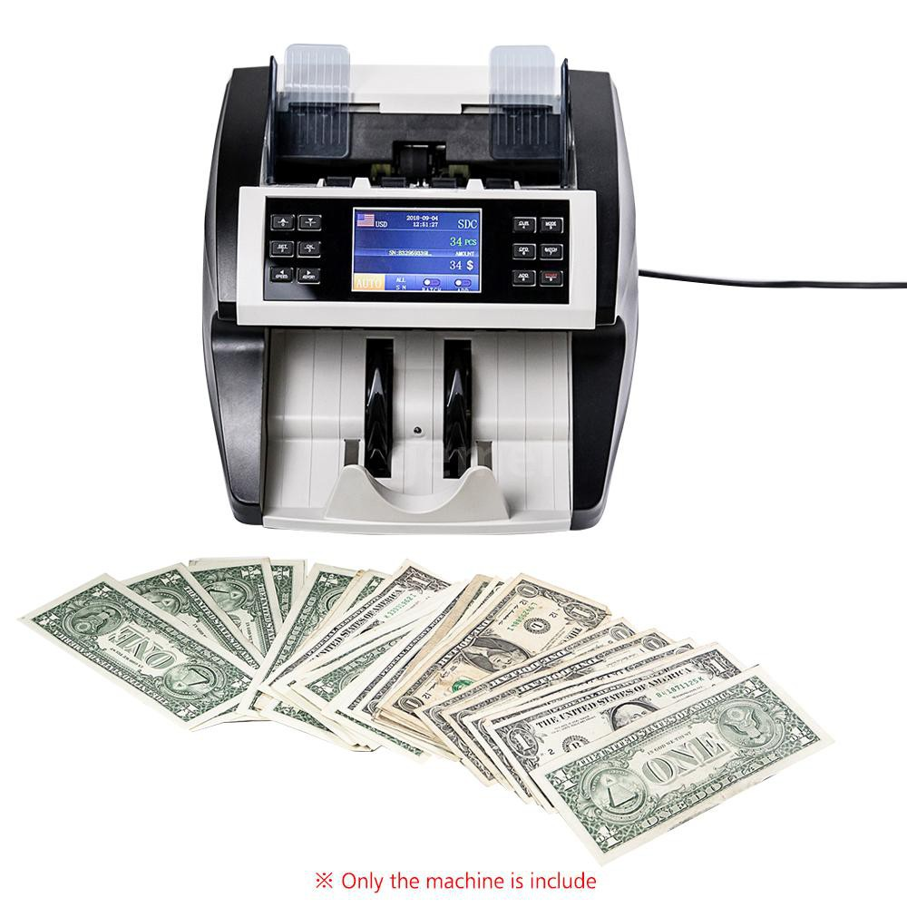 Money Bill Counter Fast Counting Machine Detector UV Bank Shop Pound Euro Cash