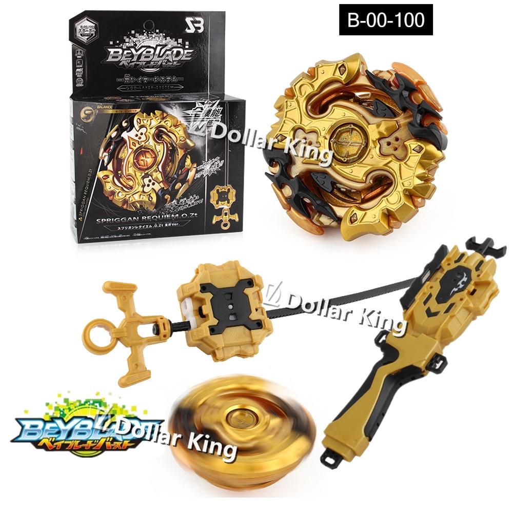 Beyblade Burst B-00 100 Gold AX Spriggan Requiem .0.Zt Battle Top Launcher Set