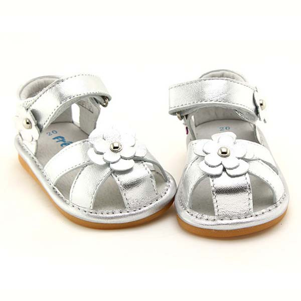 Freycoo - Silver Kayla Squeaky Toddler Shoes