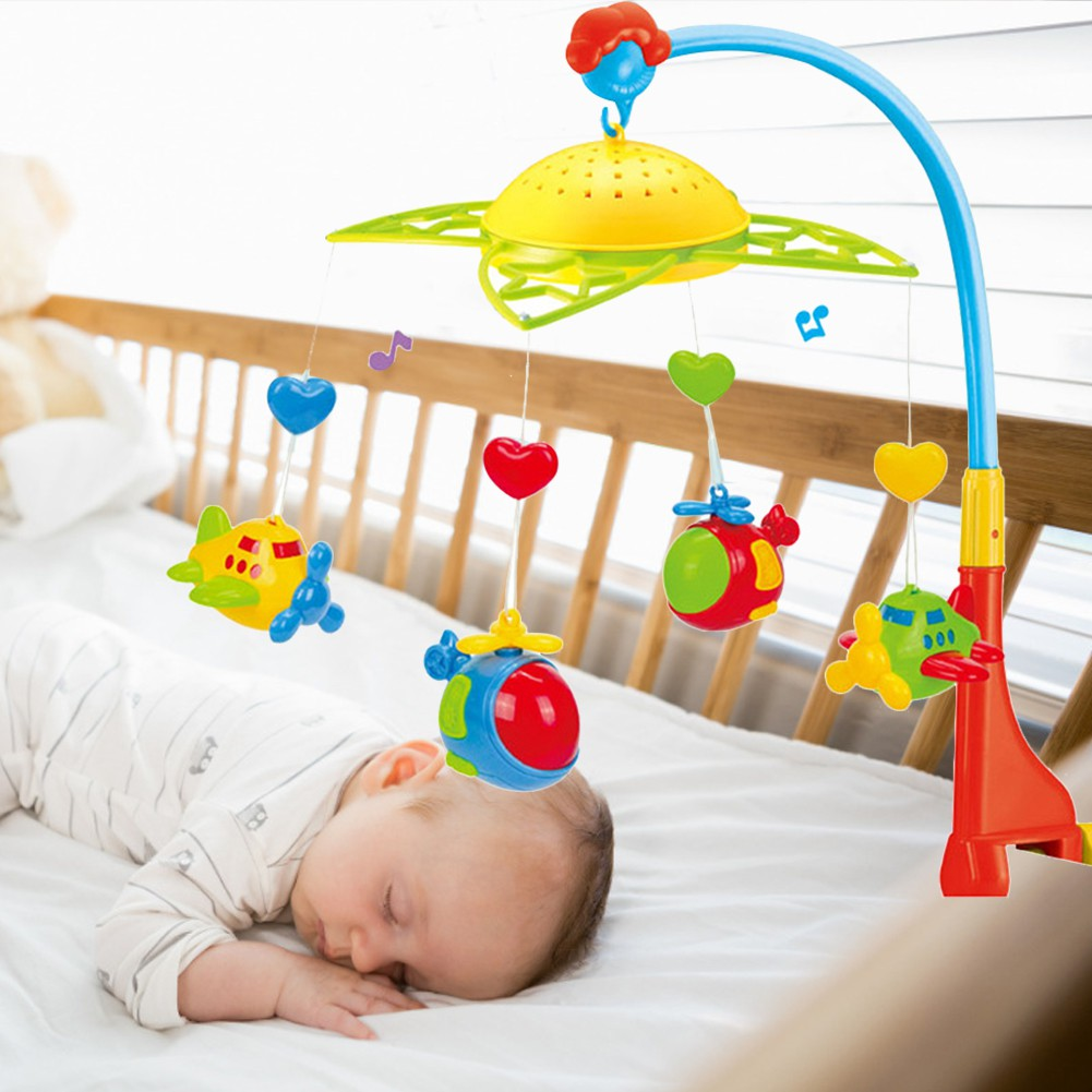 Baby Crib Mobile With Lights And Relaxing Music Musical Crib Mobile With Ceiling Light Projector Nursery Toys For Babies Shopee Singapore