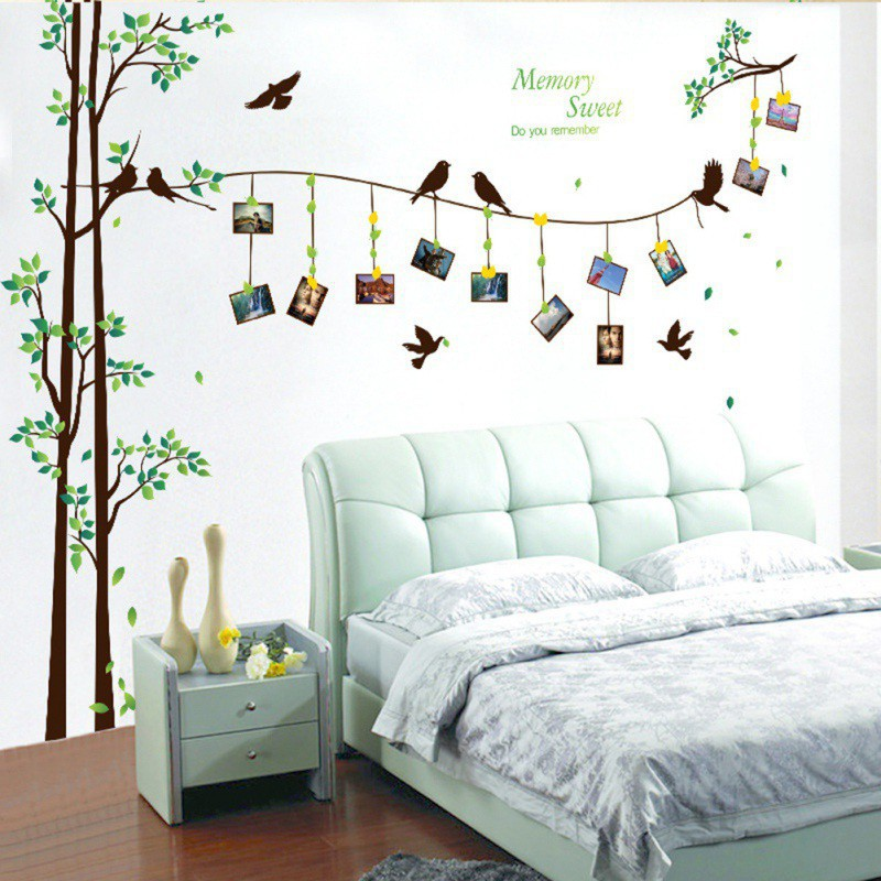 wall stickers bedroom 3d wall art decals diy family murals | shopee