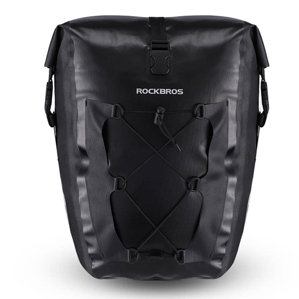 RockBros Cycling Waterproof Pannier Bag Bicycle Rear Seat Carrier Yellow 1pcs