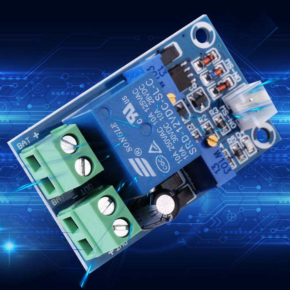 Nitrip 12V Battery Low Voltage Cut off Automatic Switch On Protection Undervoltage Controller