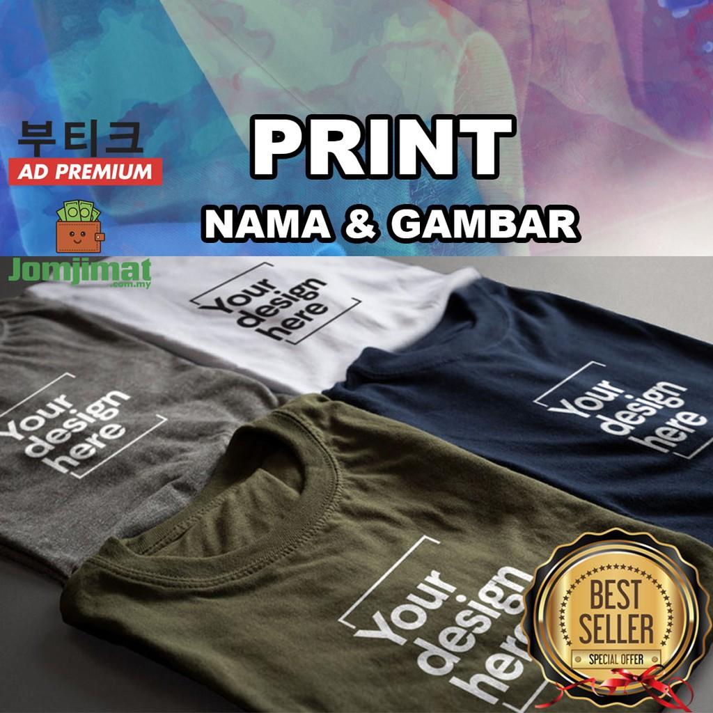 Customized T Shirt Printing Baju Cop