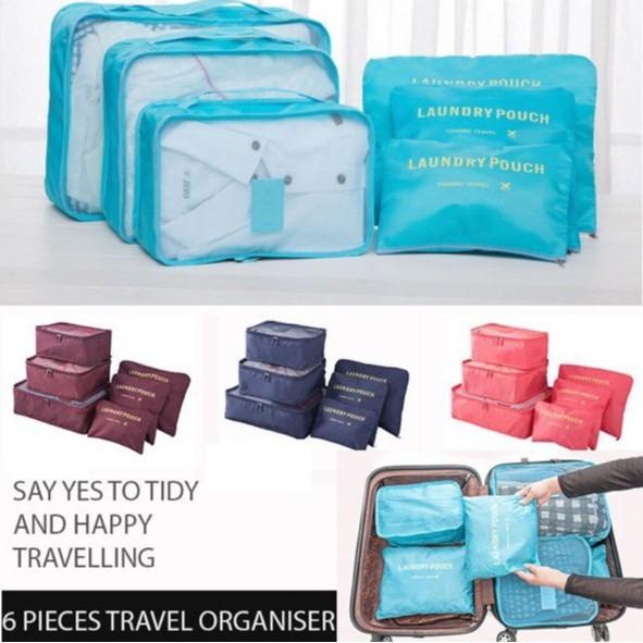 c80284f68797 6PCS/SET Korean Travel Bag Portable Storage Clothes Organization Waterproof  Pack