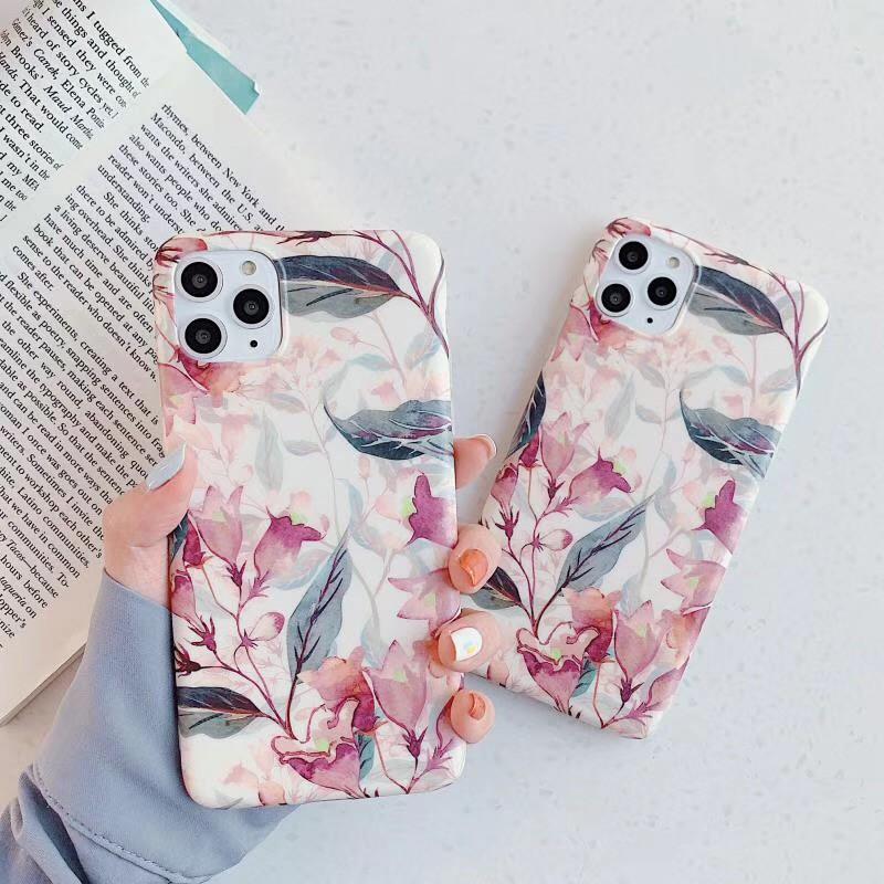 Vintage Flower Pattern Phone Case For Iphone 6 7 8 Plus Case