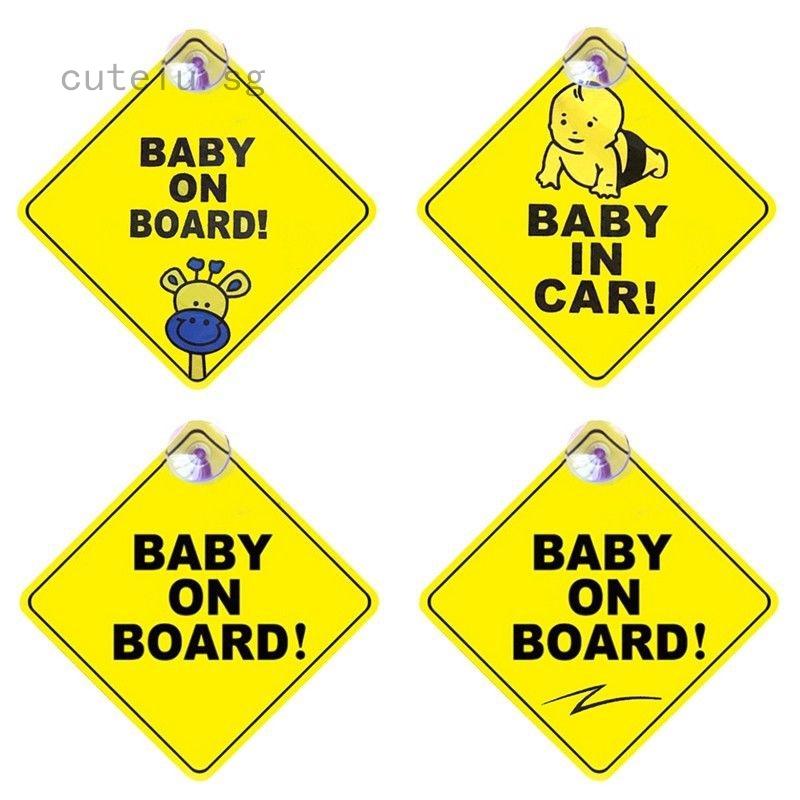 1x Baby On Board Safety Car Sign New Sticker Window Badge Baby In Car Girl Boy