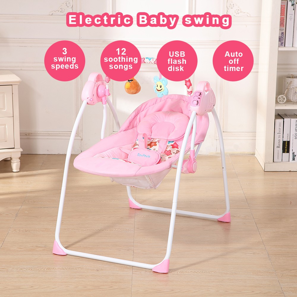 Automatic Baby Cradle Electric Baby Intelligent Swing Bed Rocking Chair  Bassinet | Shopee Singapore