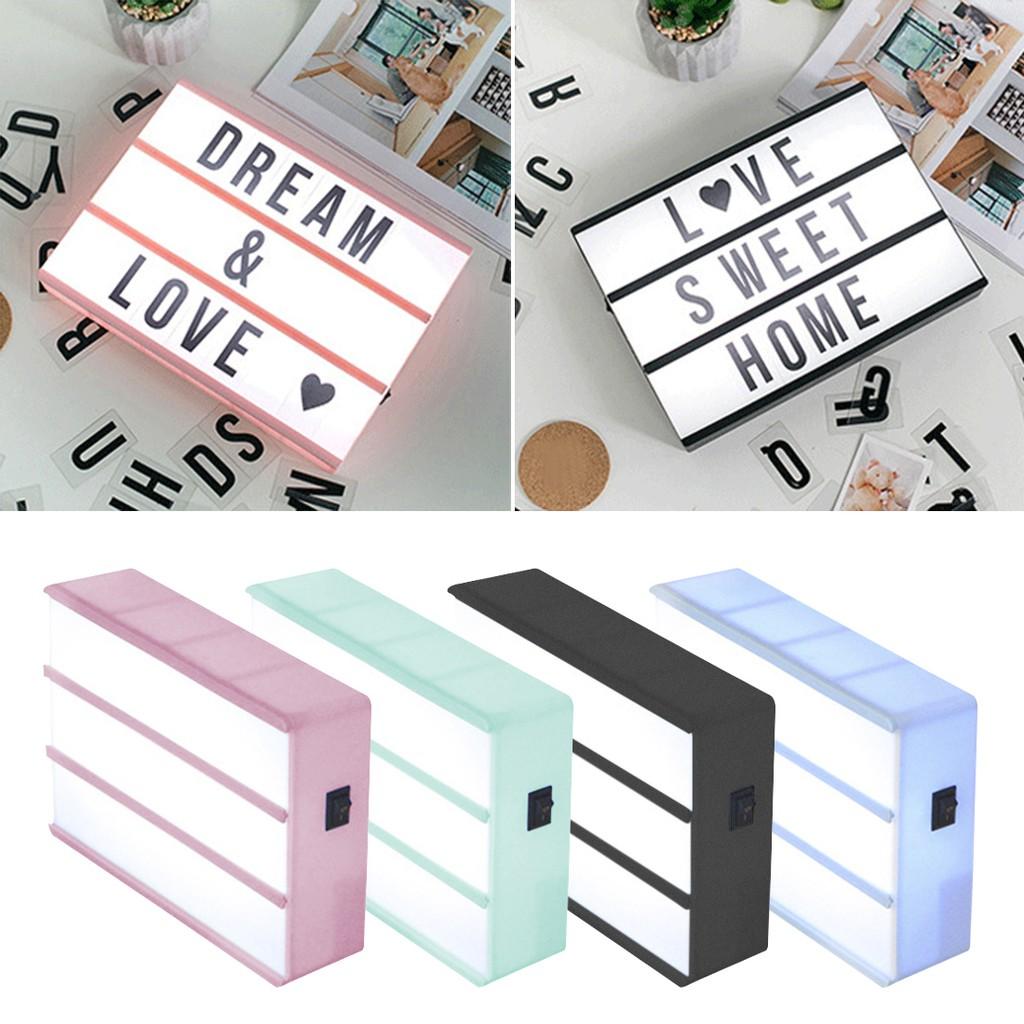 Mini Led Cinematic Light Box Letters Combination Home Decor Cinema Lightbox