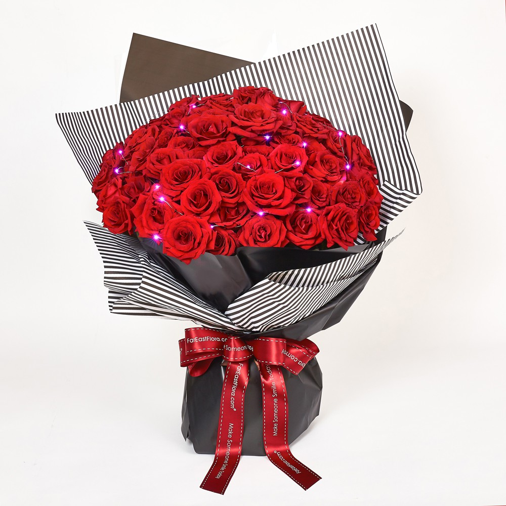 Fareastflora Com Fresh Flower Bouquet Nry07 Passionately Yours 99 Red Roses Shopee Singapore