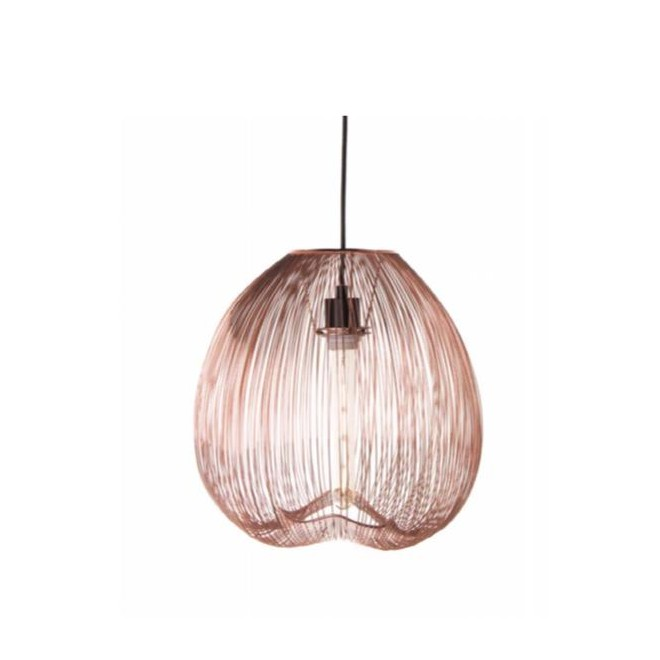 Rose Gold Cage Ceiling Light Pendant, Rose Gold Pendant Lamp Shade
