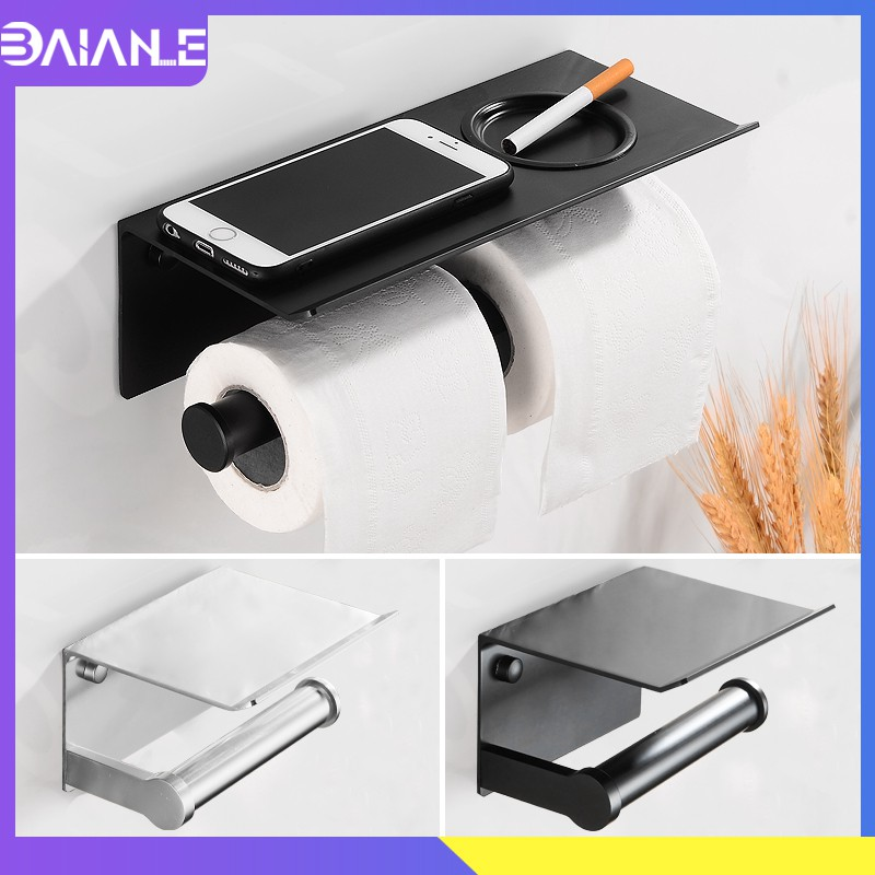 Nordic Black Toilet Paper Holder Phone