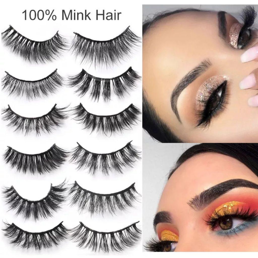 19a33157c08 100% 3D Mink Hair No Glue Required Self-adhesive Eye Lashes False Eyelashes  | Shopee Singapore