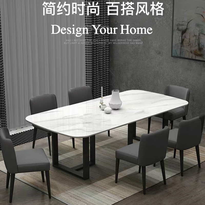 Custom Marble Dining Table Minimalist Italian Style Black High Grade Modern Dining Table Home Luxury Dining Table Shopee Singapore