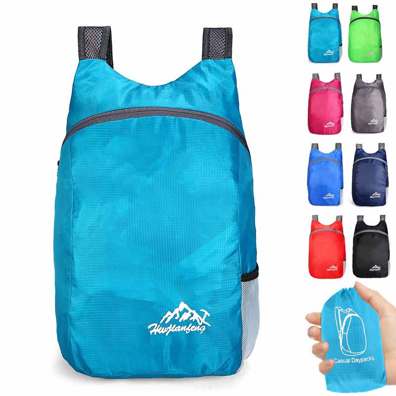 Foldable Backpack Bag Sports Carrier Holder Accessories Portable Packable
