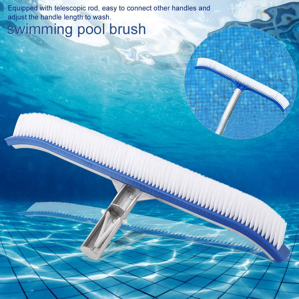 18in Swimming Pool Wall Brush Cleaning Tools Aluminum Handle