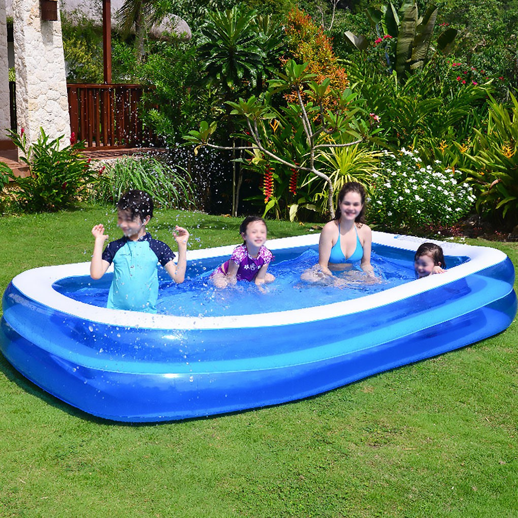 Inflatable Swimming Pool Blow Up Family Kiddie Pool for ...