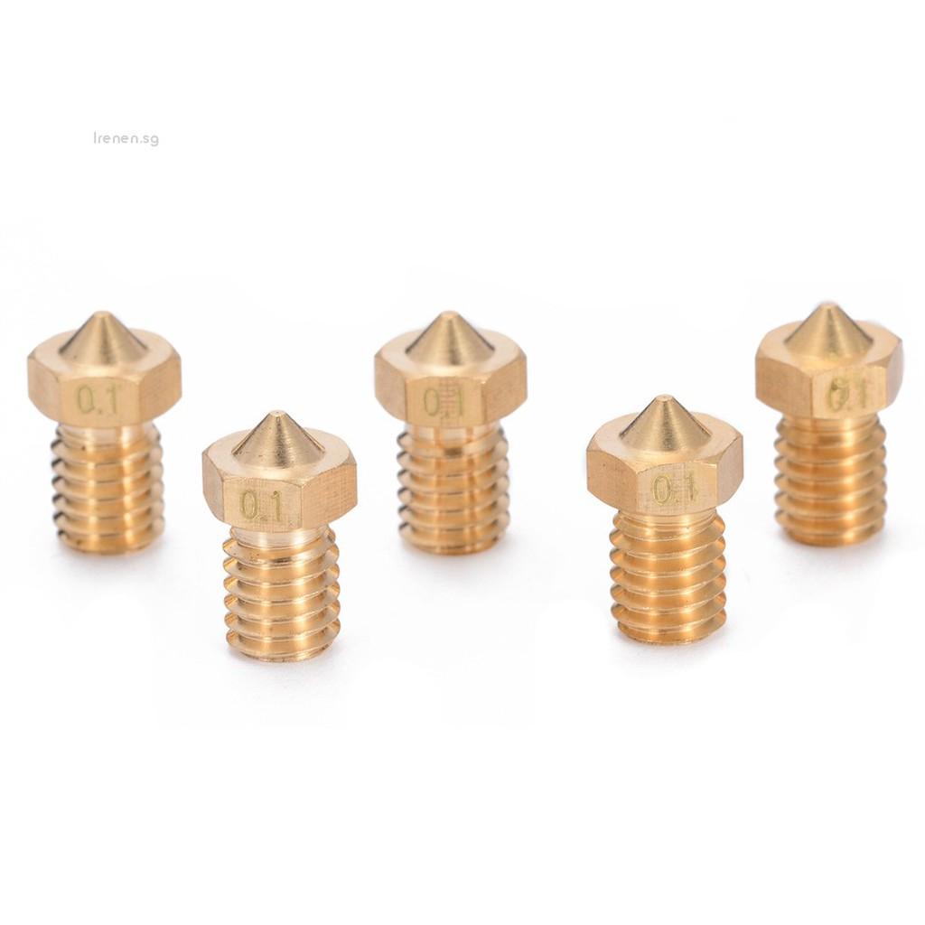 4x 1.0mm Full Metal Brass Extruder Nozzle Print Head for 3D Printer 1.75mm