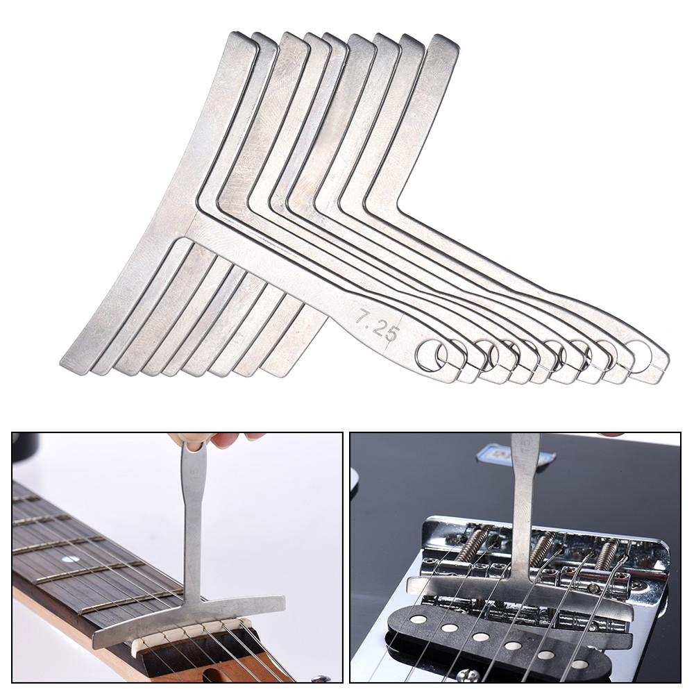 Stringed Instruments Slade 4pcs Stainless Steel Guitar Notched Radius Gauge Fingerboard Fretboard Measuring Tool Set For Guitar Instruments