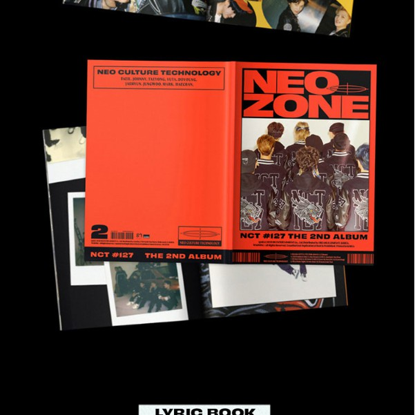 CD+Folding Poster On Pack+Photo Book+Lyrics Book+Post Poster+Photo Card+Circle Card+Sticker+Gift NCT 127 Neo Zone Album PreOrder N Ver. Extra 5 Photocards Set