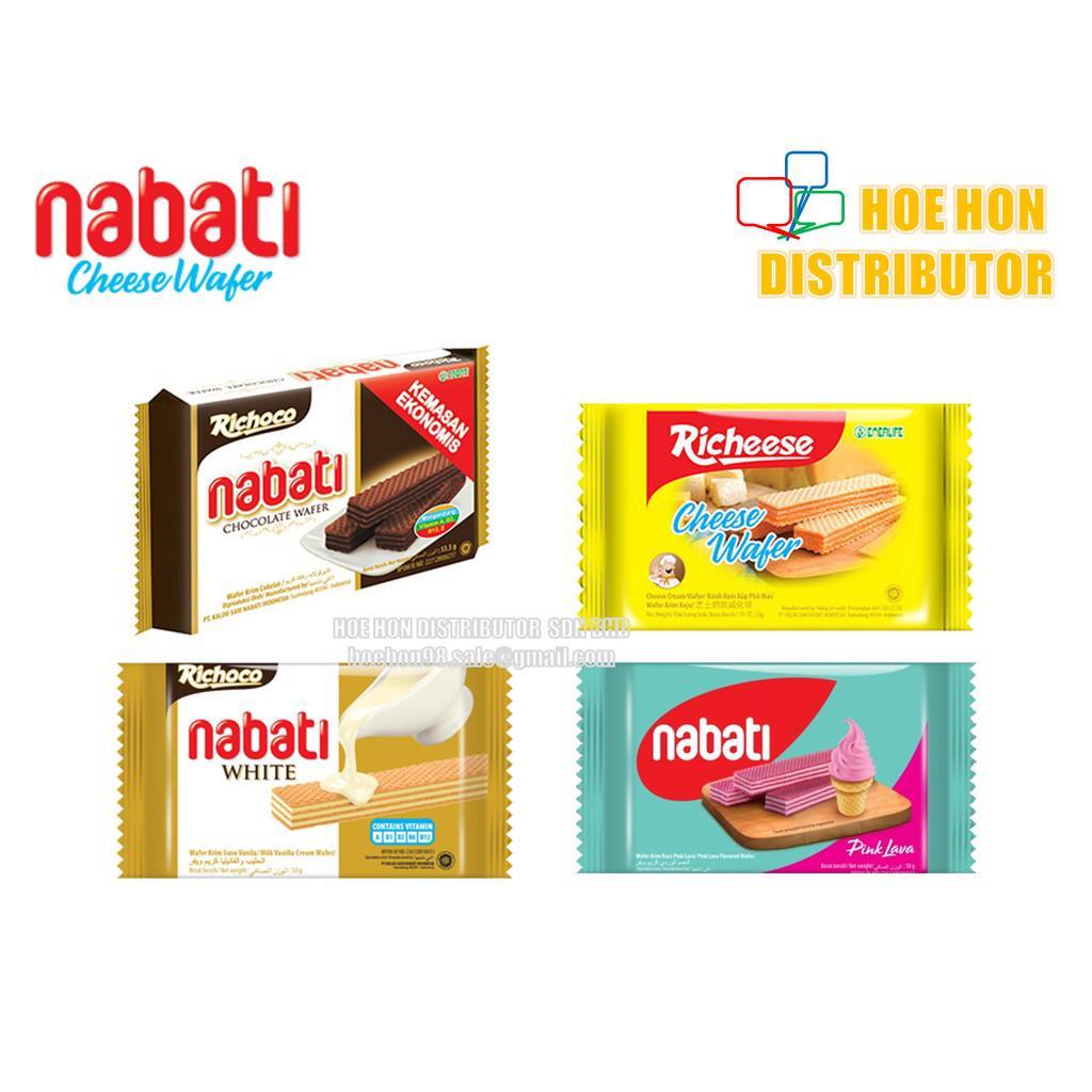 Richeese Richoco Nabati Cheese Wafer Chocolate Wafer White Vanilla Wafer 50g