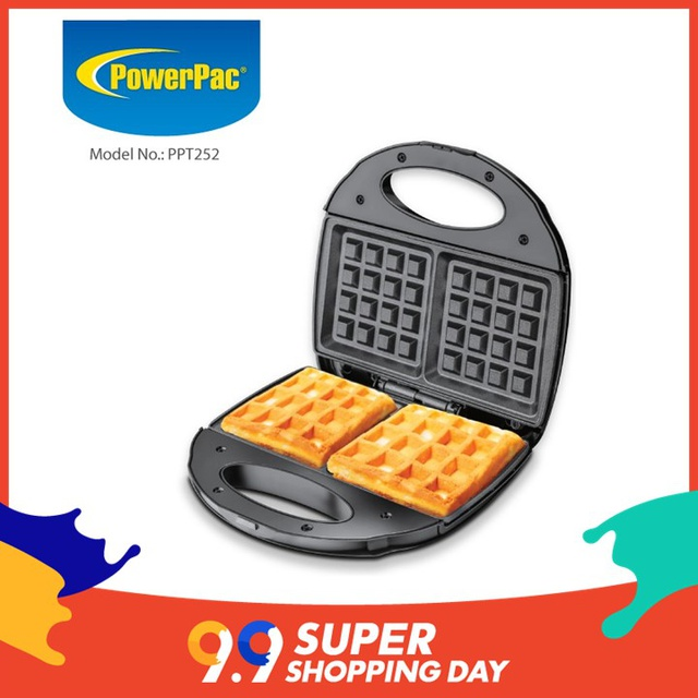 PowerPac Double-sided Electric Waffle maker(PPT252)