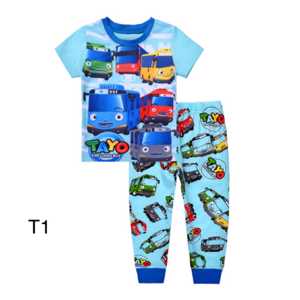 9c7f5e40 Tayo bus Pyjamas set ( 4 designs)